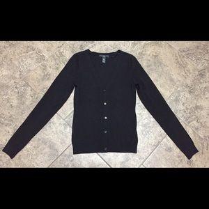 H&M BLACK V NECK CARDIGAN SWEATER